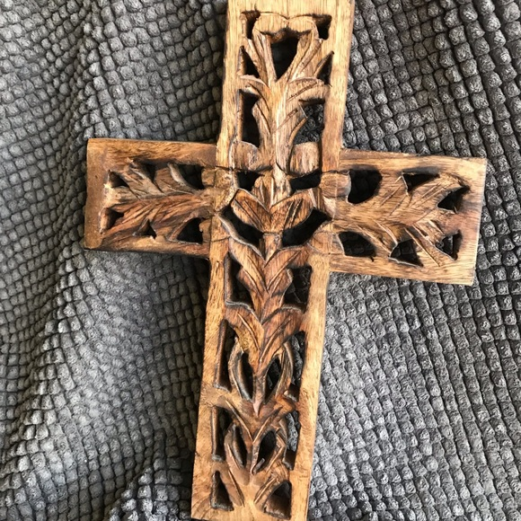Other - Hand carved wooden cross.